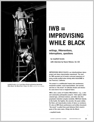 IWB = IMPROVISING WHILE BLACK