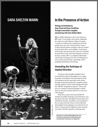 Sara Shelton Mann: In the Presence of Action