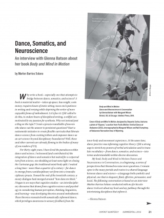 Dance, Somatics, and Neuroscience